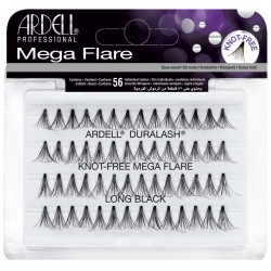 ARDELL MEGA Flare Ind Knot-Free LONG Black MEGA